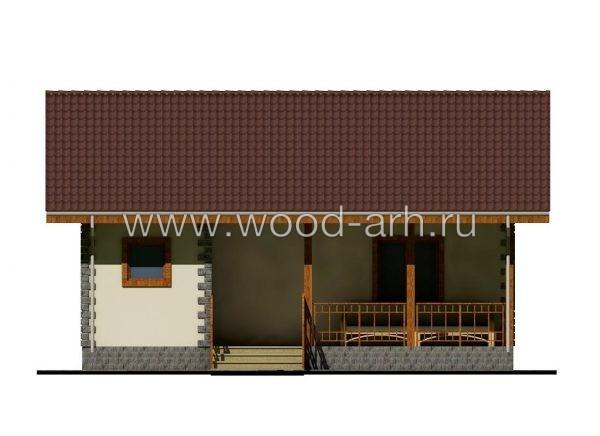 Проект дома 8*8 с из SIP-панелей 1 этаж с террасой