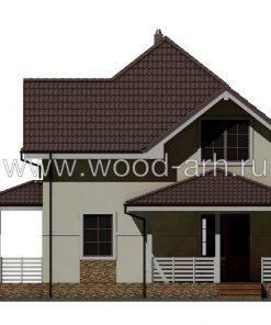 Проект дома 8*9 с из SIP-панелей 2 этажа с террасой